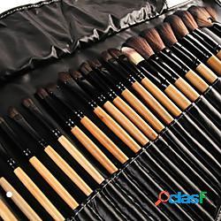 Pennelli per trucco professionale set di pennelli per trucco 32 pezzi pennello ecologico a copertura totale in fibra artificiale pennelli per trucco in legno set di pennelli per trucco strume