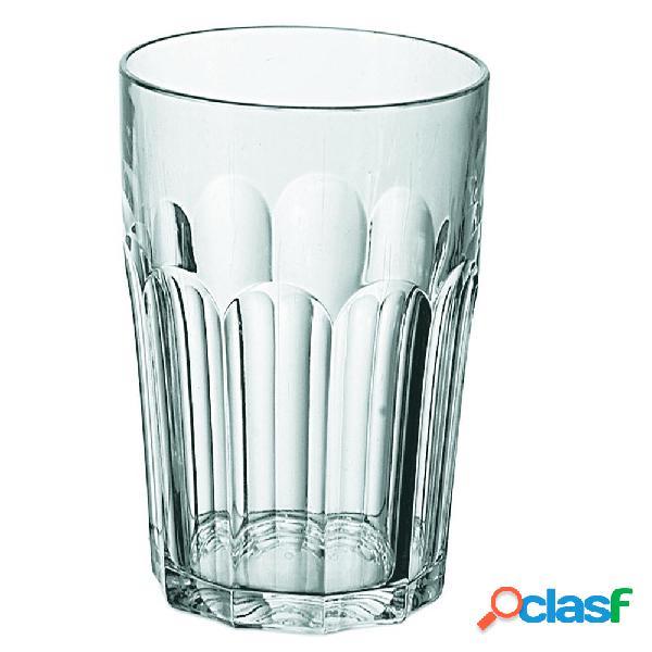 Bicchieri molati bibita molati set 6 pezzi diametro 8xh12.5 cm - 420 cc happy hour lavabili in lavastoviglie trasparente