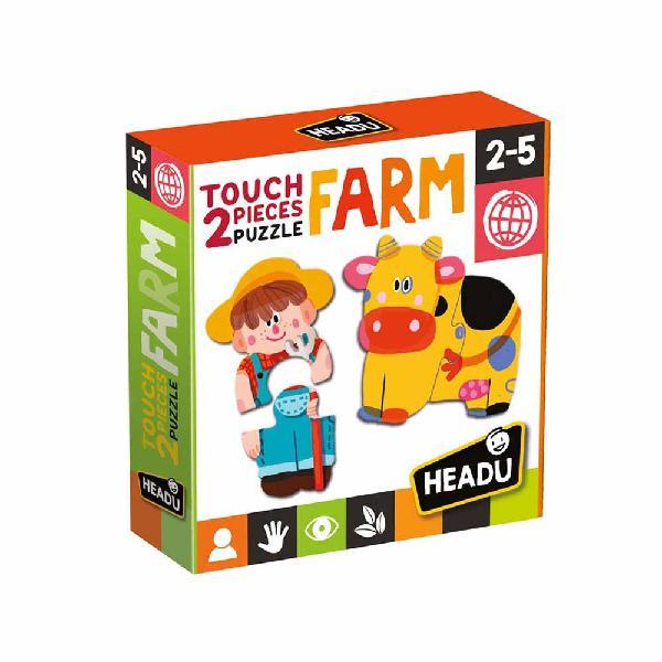 2 pieces puzzle touch farm - headu