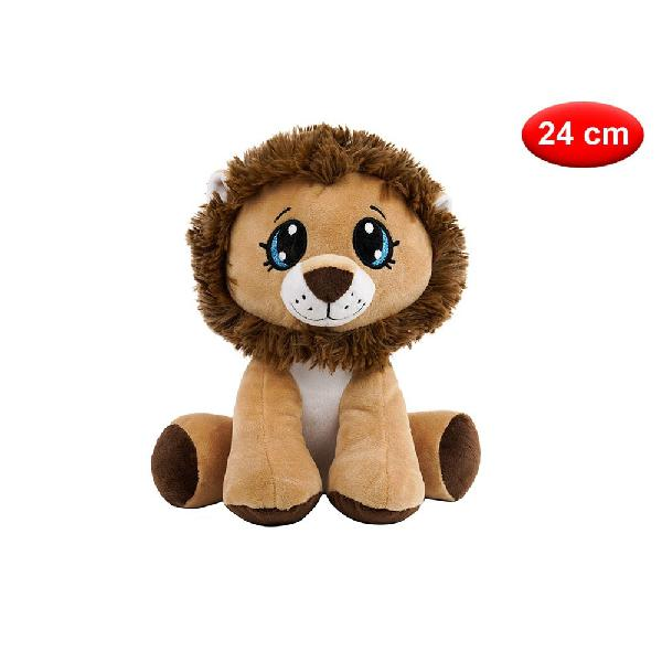 Peluche leone in tessuto 24 cm - mazzeo giocattoli