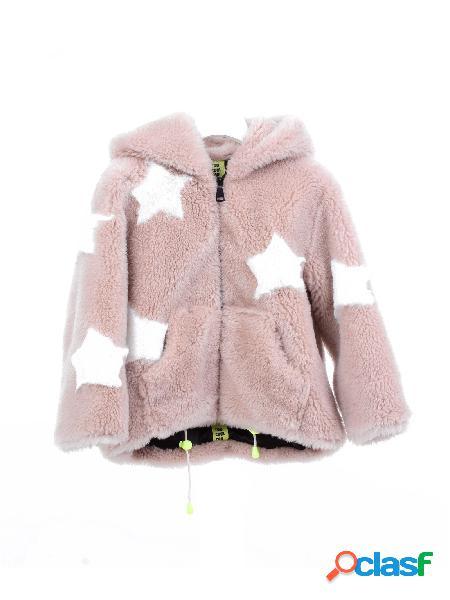Too cool for fur pelliccia stella di colore beige e bianco