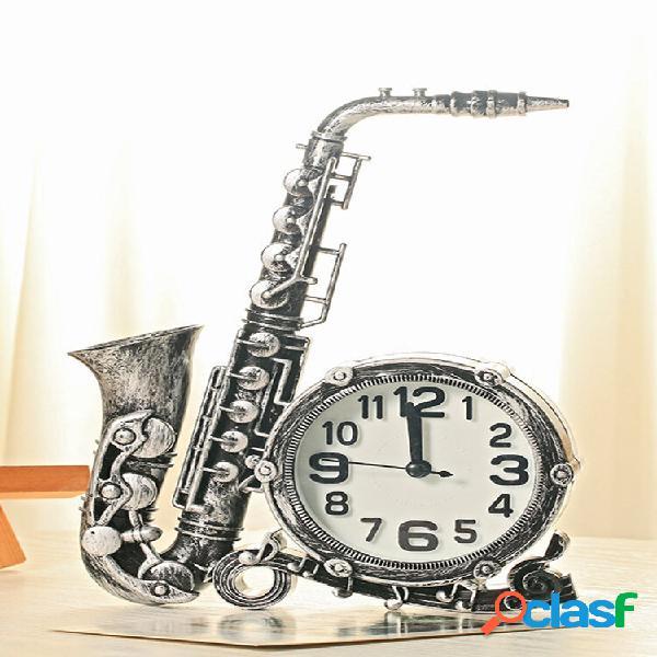 Orologio decorativo per la casa in stile vintage a forma di sassofono