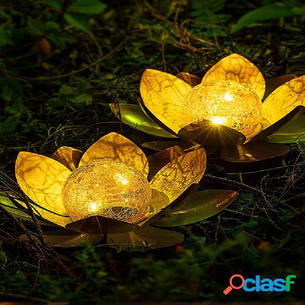 1pc led lotus solare energy light impermeabile ecologico lungo orario di lavoro giardino di casa cortile decorazione del