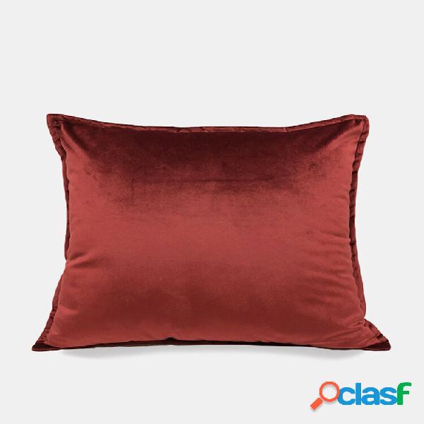Casa semplice flanella divano cuscino minimalista luce lusso divano cuscino camera federa