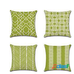 Cuscino geometrico doppio lato 1pc morbido cuscino decorativo quadrato federa cuscino federa per camera da letto soggiorno qualità superiore lavabile in lavatrice cuscino esterno per divano d