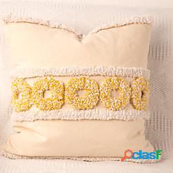 Fodera per cuscino in cotone trapuntato ricamato texture premium fodera per cuscino per ufficio casa fodera per cuscino divano camera da letto moderna fodera per cuscino camera campione minii