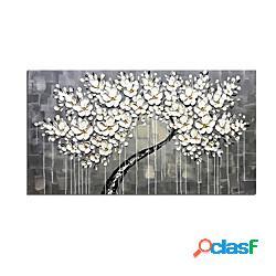 Dipinti ad olio di arte contemporanea dipinti a mano al 100% su tela moderna opera d'arte astratta di fiori 3d allungata e incorniciata pronta per essere appesa miniinthebox
