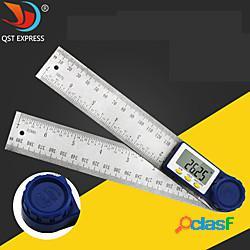 Strumento di misurazione dell'angolo elettronico del goniometro inclinometro in acciaio inossidabile righello digitale da 200 mm goniometro angolare miniinthebox