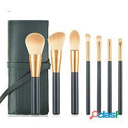 Professionale pennelli per il trucco 7 pz soffice coppa larga adorabile comodo legno / bambù per accessori per trucco pennello per cipria pennello da fondotinta pennello da trucco pennello pe
