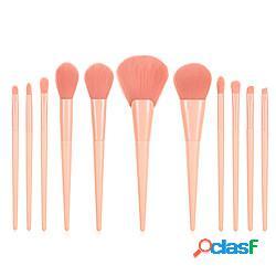 Professionale pennelli per il trucco 11 pz soffice coppa larga adorabile comodo legno / bambù per accessori per trucco pennello applicatore per eyeliner pennello per cipria pennello da fondot