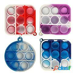 4 pezzi giocattolo sensoriale fidget mini popit pops push bubble figet simple dimple toy portachiavi anello anti-stress board autismo giocattolo educativo miniinthebox