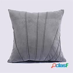 Fodera per cuscino in pelle scamosciata tinta unita fodera per cuscino fodera per divano camera da letto soggiorno fodera per cuscino camera moderna miniinthebox
