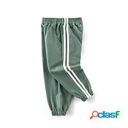Bambino bambino (1-4 anni) da ragazzo pantaloni blu verde grigio tinta unita essenziale moda città 2-9 anni miniinthebox