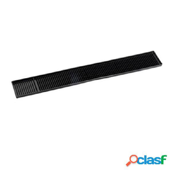 Bar mat striscia in gomma nera cm 59x7,5 - nero