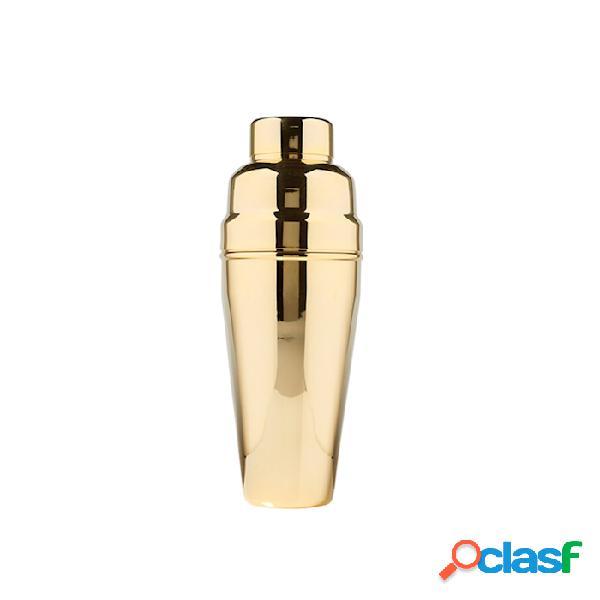 Cobbler shaker 3 pezzi in acciaio inox oro cl 90