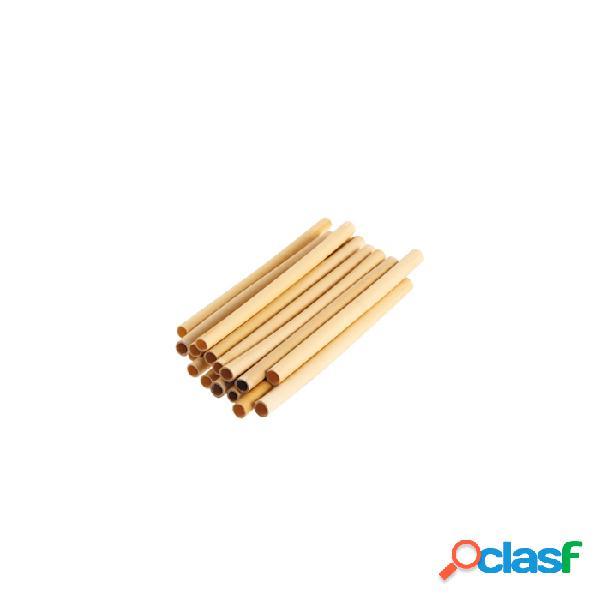 Cannucce riutilizzabili in bamboo colore naturale cm 14x0,5-0,7 - legno