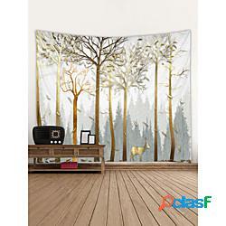 Abstract landscape wall arazzo art decor coperta tenda picnic tovaglia appesa casa camera da letto soggiorno dormitorio decorazione foresta albero animale miniinthebox