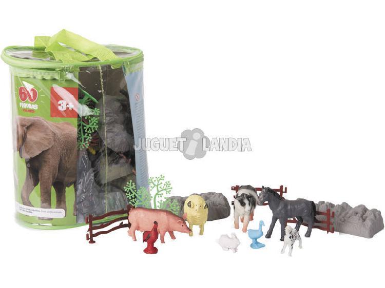 Animali fattoria mondo animale 60 pezzi