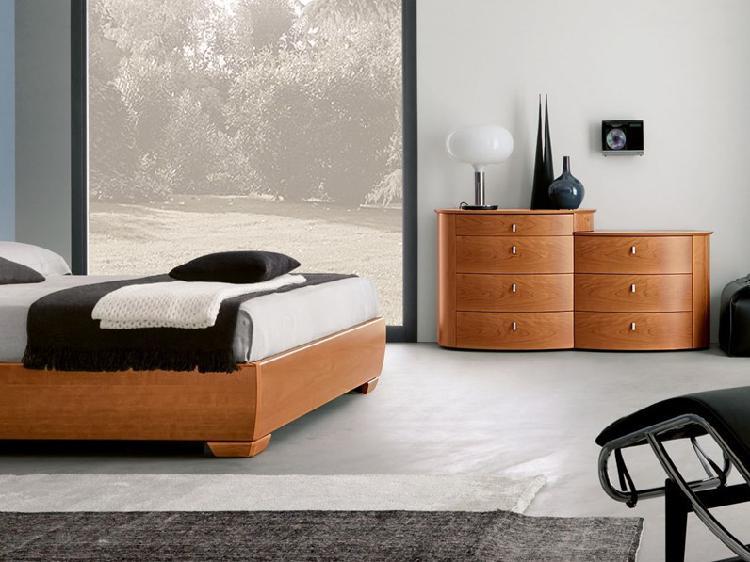 Camera napol cemi moderno legno comò e comodini