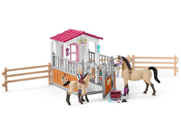 Cavalli arabi e fanciulla schleich 42369