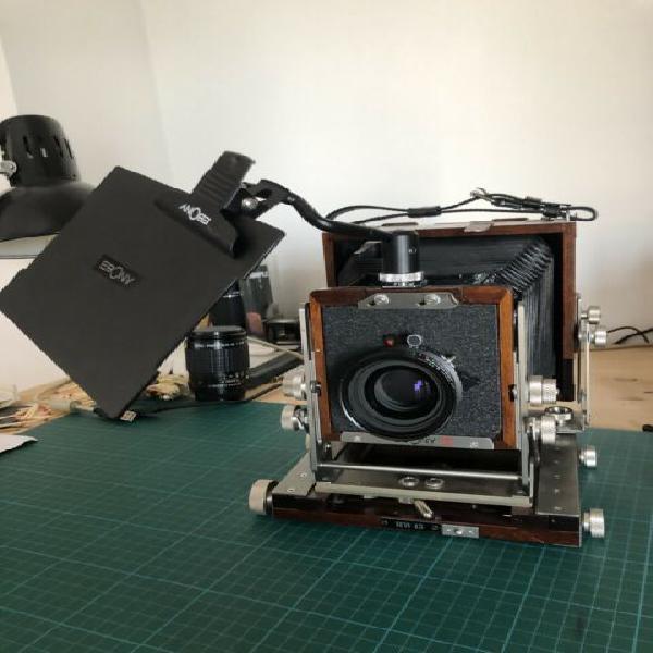 Ebony RW45 4x5 Large Format Camera+ Schneider 150mm f5.6