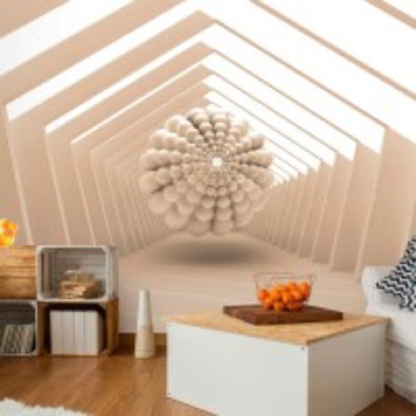 Fotomurale - abstract corridor