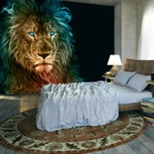 Fotomurale - abstract lion