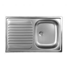 Lavello cucina vasca acciaio inox da incasso gocciolatoio sx