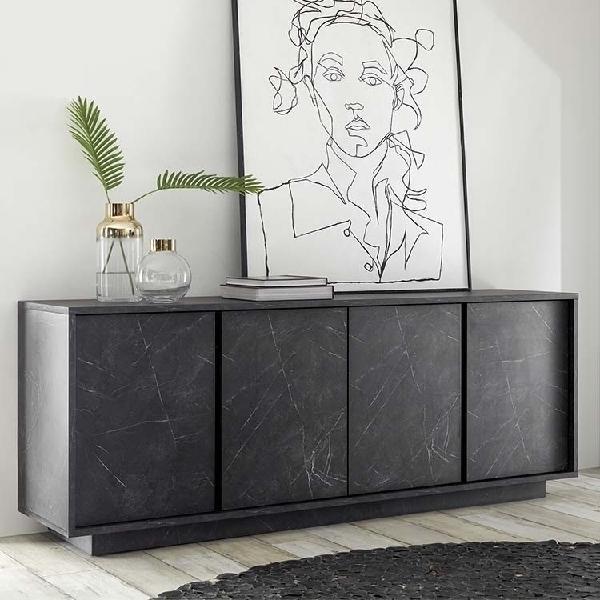 Madia 4 ante carrara marmo nero