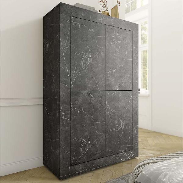 Mobile contenitore 4 ante basic marmo nero