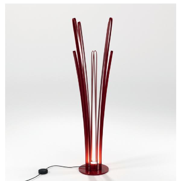 Moderno appendiabiti-lampada in ferro pieno lavorato appunto