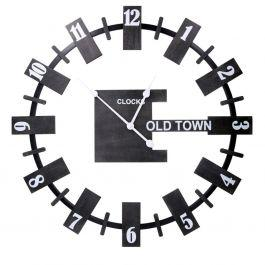 Orologio design modero legno nero tondo cm 80