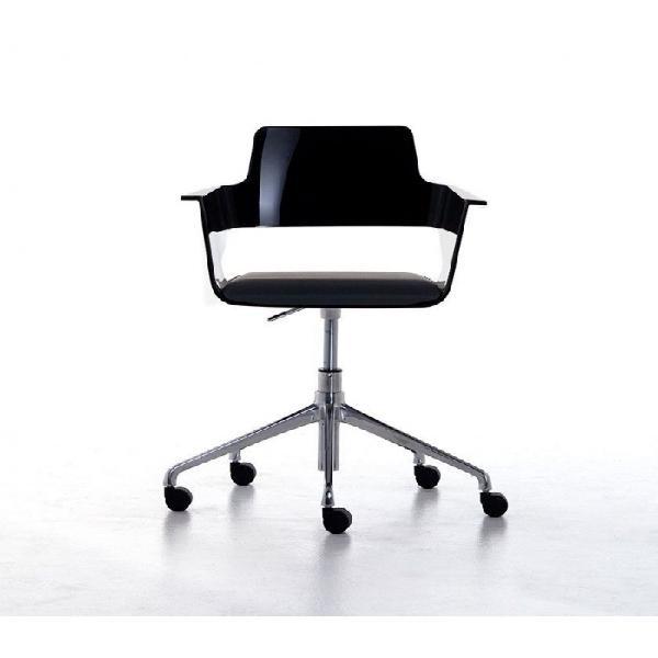 Poltroncina con ruote b32 home office plus, con seduta in