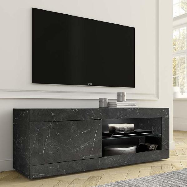 Porta tv basic marmo nero piccolo