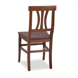 Sedia in legno colore noce e seduta in massello 43x45xh.91