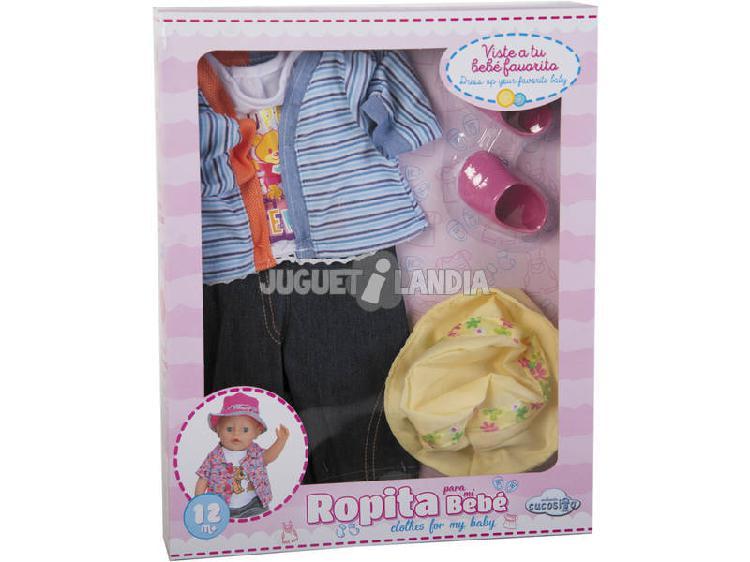 Set abbigliamento bambola 43-46 cm. 6 pezzi super orsetto