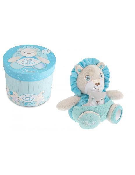 Soft cuddles leone azzurro chicco