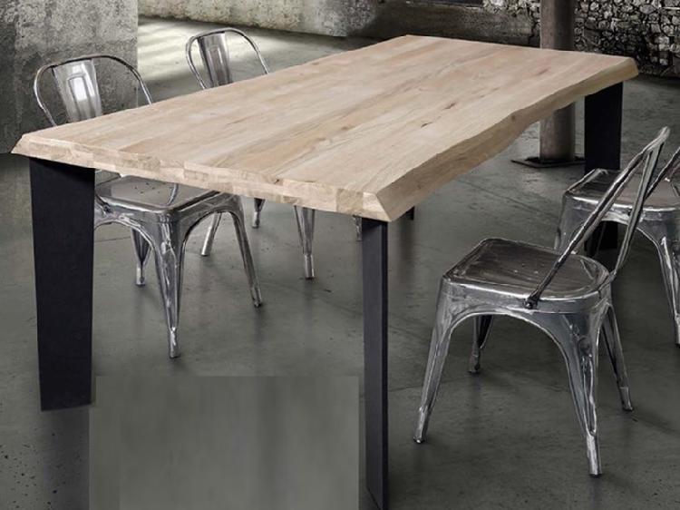 Tavolo legno massello nodato fisso