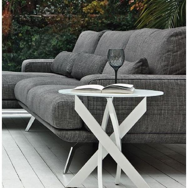 Tavolino rotondo gambe incrociate bontempi casa artistico