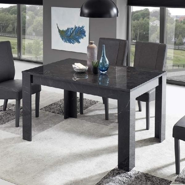 Tavolo mango 137 x 90 marmo nero lucido con allunga