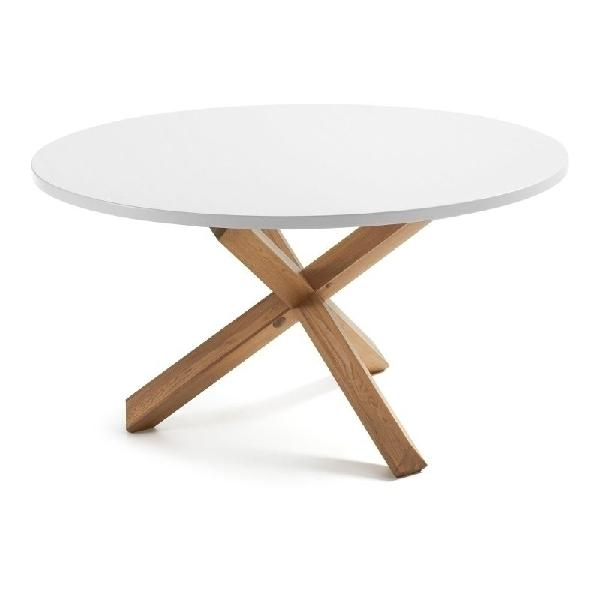 Tavolo legno massello rotondo lotus gihome ® 120