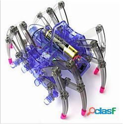 Ragno robot scienza laboratorio giocattolo assemblaggio giocattoli elettrici striscianti a blocchi compatibili regali di natale senza battary miniinthebox