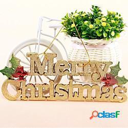 Inglese lettere merry christmas card con albero di appendere la corda appesa negozio porta decorazione appesa miniinthebox