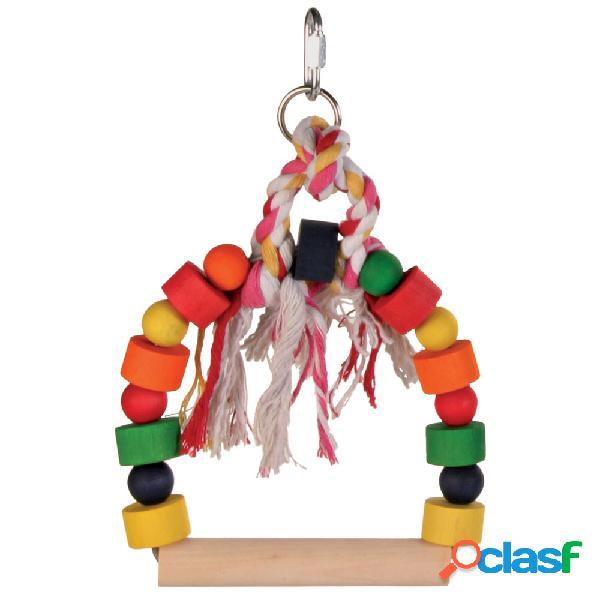 Trixie altalena in legno multicolor 13x19 cm