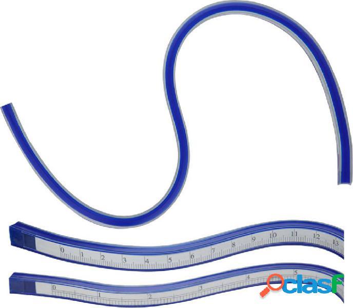 Donau elektronik mlk30 righello per curve plastica, acciaio blu 30 cm