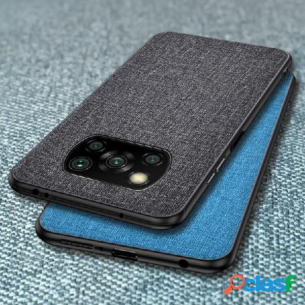 [eu] cover custodia traspirante in tela con protezione lente per poco x3 (nero)