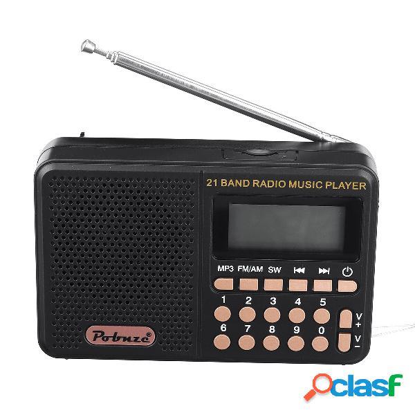 [eu] mini radio portable music player (black)