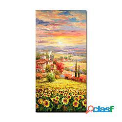Dipinti di paesaggi astratti dipinti a mano su tela pittura astratta pittura acrilica arte moderna arte strutturata con barella pronta da appendere con cornice allungata miniinthebox