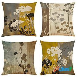 Cuscino floreale vintage doppio lato cuscino 4pc morbido decorativo quadrato copertura del cuscino federa cuscino per camera da letto soggiorno qualità superiore lavabile in lavatrice cuscino