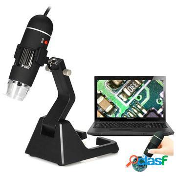 Microscopio digitale usb portatile 25x-600x con supporto
